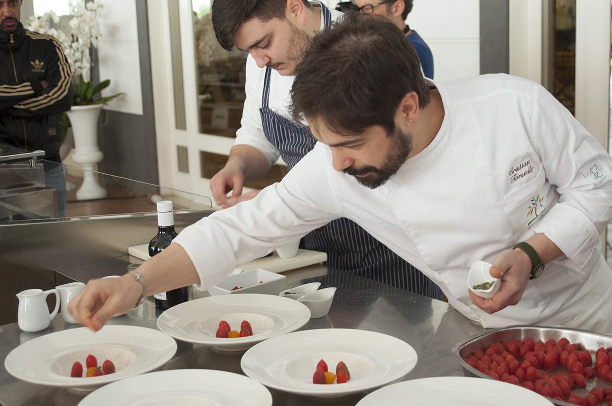 Lo Chef Christian Torsiello al Taste Club di LSDM10. Foto di Carlo D' Angelo.